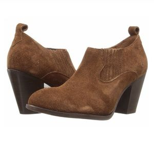 Frye Ilana Shootie Wood Brown Ankle Boots NEW